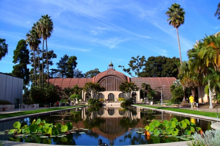 The Reflection of Balboa s Pond in Balboa Park, San Diego, CA