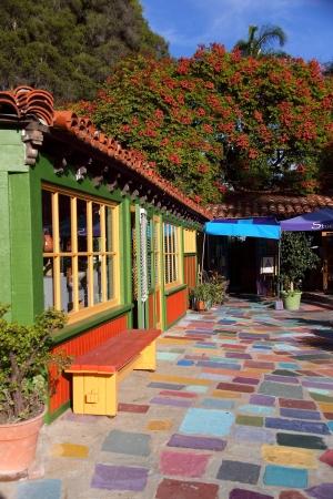 Multi Color Walkway in Balboa Village, San Diego, CA