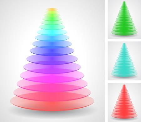 Illustration pour Color pyramids set - image libre de droit
