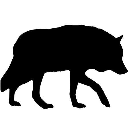 Illustration pour Wolf Silhouette Vector Graphics - image libre de droit