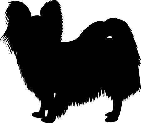 Illustration pour Papillon Dog 9 isolated vector silhouette - image libre de droit