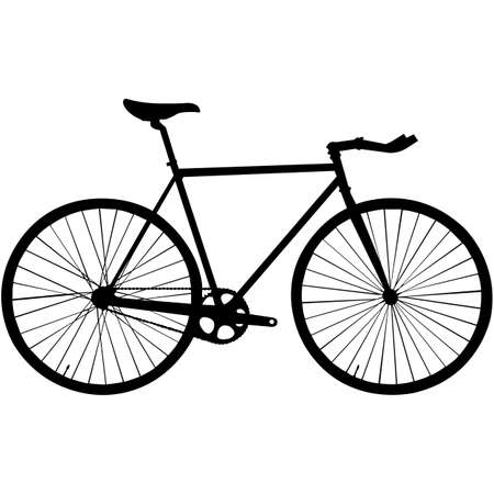 Illustration pour Bicycle  Silhouette Vector - image libre de droit