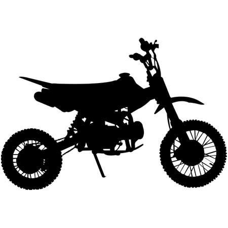 Illustration pour Dirt Bike  Silhouette Vector - image libre de droit