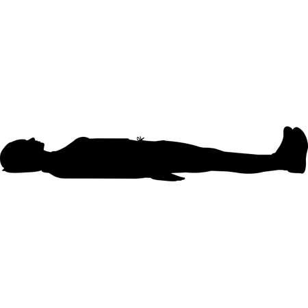Illustration pour Woman Lying Down Silhouette Vector - image libre de droit