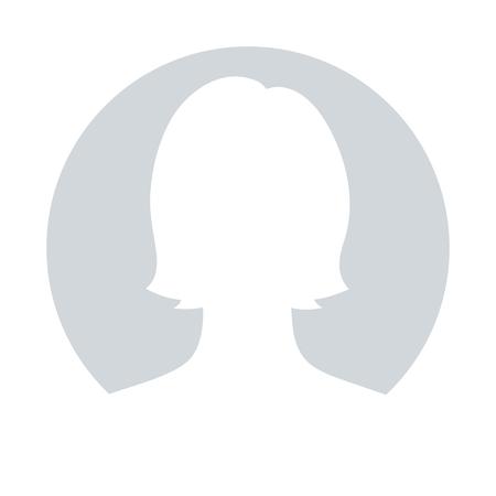 Illustration pour Default avatar profile icon for female; Grey photo placeholder, illustrations vector - image libre de droit