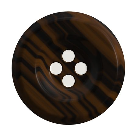 A 3d button commonly used in clothing isolated over white.
