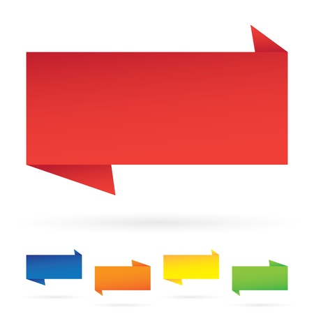 Variety of modern rectangular banner layouts in an assortment of colors.