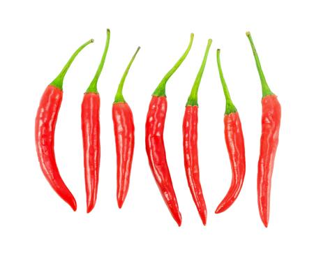 Foto für set of isolated chili pepper on white background - Lizenzfreies Bild
