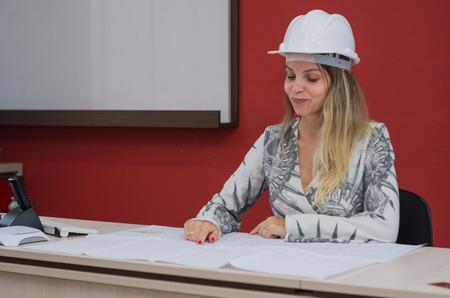 Foto de Great concept of engineering design, engineer working on architectural design. - Imagen libre de derechos