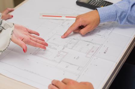 Foto de Great concept of engineering project and group work. - Imagen libre de derechos