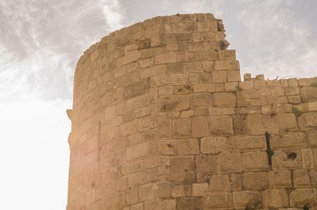 Foto de Castle of the Sea, Sidon, Lebanon, historic castle built by the Crusaders in 1228 to serve as a fortress of protection. - Imagen libre de derechos