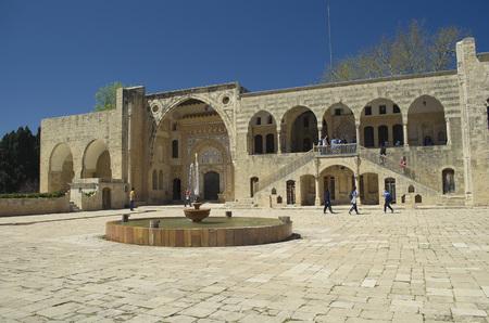 Foto de Chouf District, Lebanon, April 05 - 2017: Historic palace located inside the Beit ed-Dine (Beiteddine) palace, built in 1788, renovated after the civil wars in Lebanon. - Imagen libre de derechos
