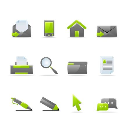 Set of 12 glossy web icons (see other in my portfolio)