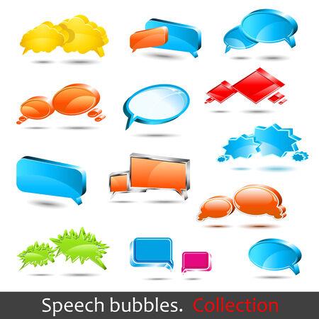 Speech bubbles. Set of high quality 3d element.
