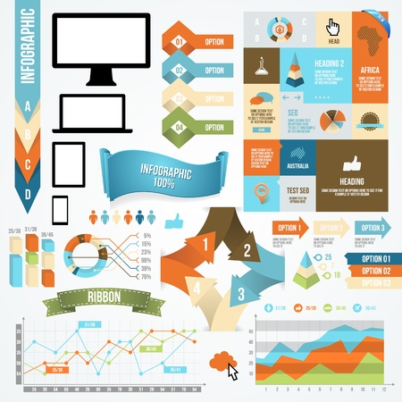 Infographic Icon and Element Collection. Vector Communication Concept.