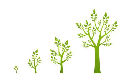 Illustration pour Green tree growth eco concept - image libre de droit