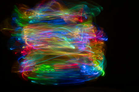 Photo pour Abstract light and colorful blur background on black background with copy space - image libre de droit