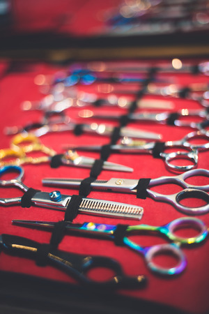 Foto de Barber scissors colection - Imagen libre de derechos