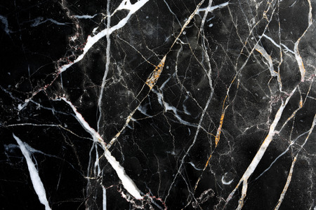 Foto de Black marble pattern texture. White pattern, trimmed with black marble floor general  for background and design product. - Imagen libre de derechos