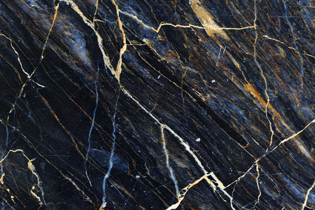 Photo pour Yellow and white patterned natural of dark marble texture. - image libre de droit