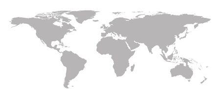 Ilustración de gray world map background, vector illustration - Imagen libre de derechos