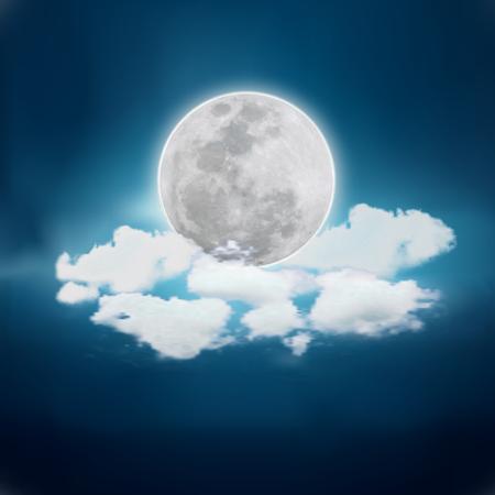 Illustration pour Realistic full moon. Detailed vector illustration. - image libre de droit