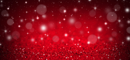 Photo pour Christmas background with red glitters, sparkles and bokeh - image libre de droit