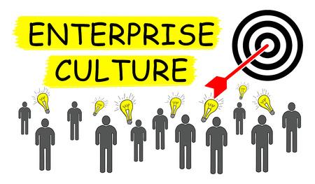 Illustration of an enterprise culture concept