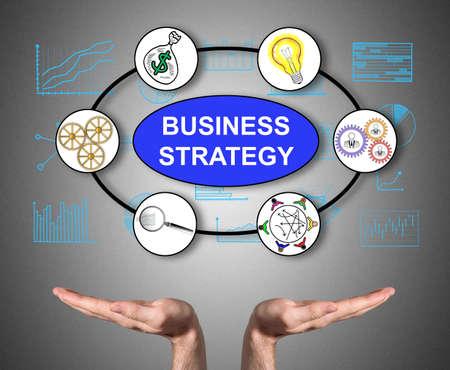 Photo pour Open hands sustaining business strategy concept - image libre de droit