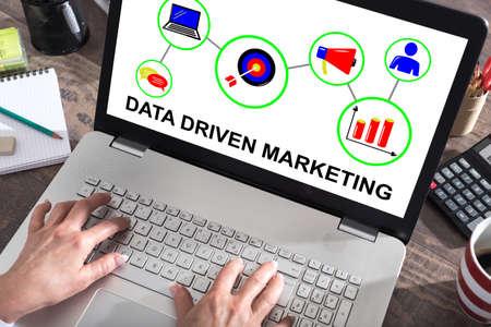 Photo pour Data driven marketing concept shown on a laptop screen - image libre de droit