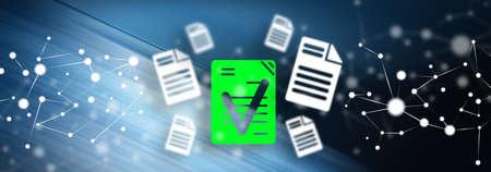 Photo pour Illustration of a document validation concept - image libre de droit
