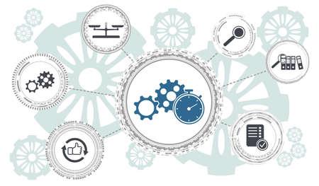 Photo pour Concept of assessment with connected icons - image libre de droit