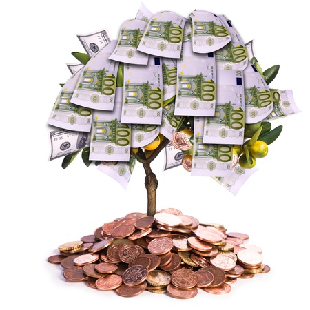 a symbolic picture for financial success and money savings