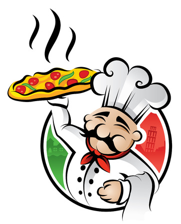 Illustration of an italian chef