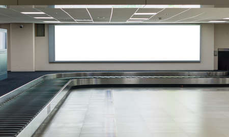 Photo pour Blank billboard posters in the airport. - image libre de droit