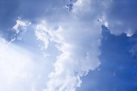 White cloud on joyfully Blue Sky.Cloud full on sky look still and reticence