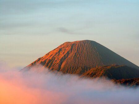 Volcano Semeru in Tengger Caldera, Java, Indonesia