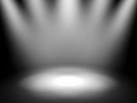 Photo pour Empty theater stage with spot lights, 3d render - image libre de droit
