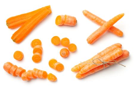 Foto für Baby, mini carrots isolated on white background. To view  - Lizenzfreies Bild