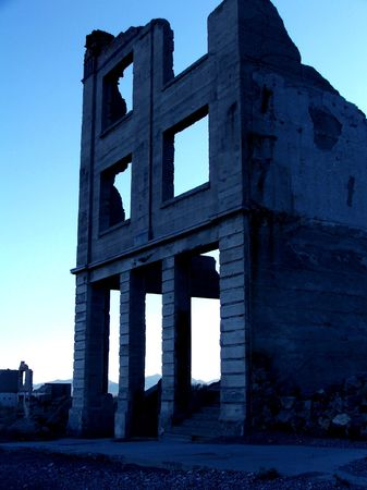 The old bank in Rhyolite, Nevada.