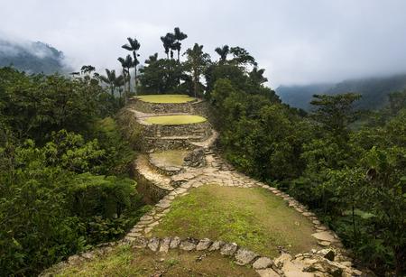 The Lost City (Ciudad Perdida) ruins in the Sierra Nevada de Santa Marta, Colombia