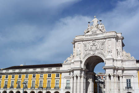 Augusta street arch, Lisbon, Portugal