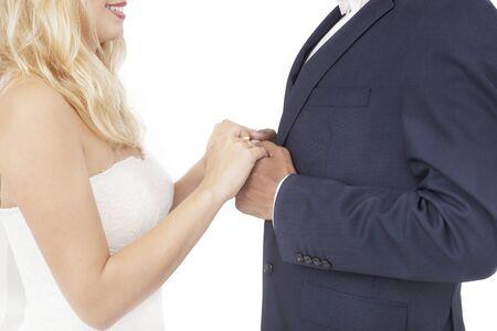 Foto de Interracial couple wedding - Imagen libre de derechos