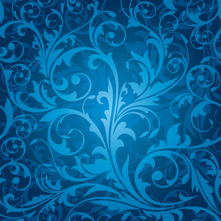 Illustration for seamless floral pattern vector illustration - Royalty Free Image