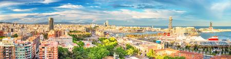Foto de Panorama of Barcelona - Imagen libre de derechos