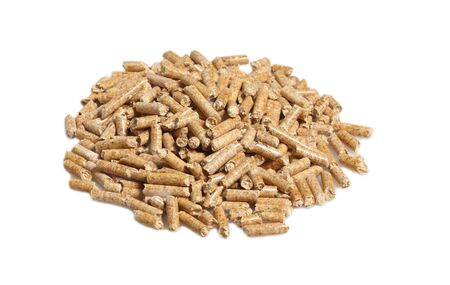 fine image of alternative biological energy, wood pellet