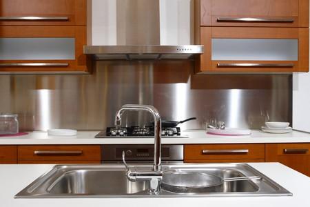modern wood kitchen modern style background
