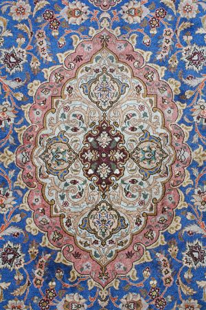 fine detail of persian classic carpet background