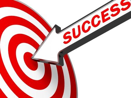 Photo pour 3d target and success arrow metaphoric business image - image libre de droit