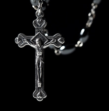 metal christian classic rosary background